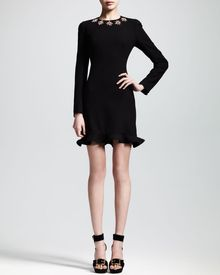 Alexander McQueen Glory Embellished Flounce Dress - Lyst