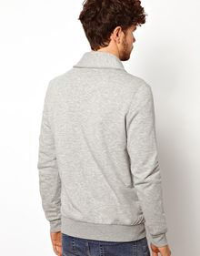 Asos Sweat Cardigan with Shawl Collar - Lyst
