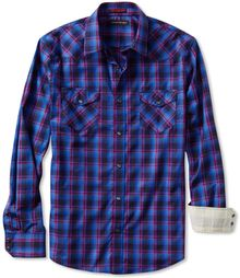 Banana Republic Slim Fit Western Shirt Lava - Lyst