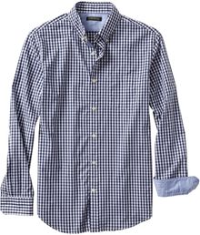 Banana Republic Slim Fit Soft Wash Gingham Button Down Shirt Navy - Lyst