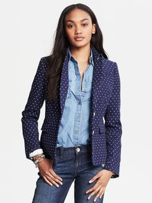 Banana Republic Polka Dot Blazer Night Sky - Lyst