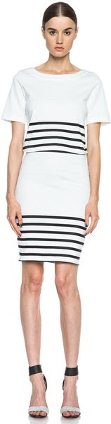 Band Of Outsiders Cut Out Dress - Lyst