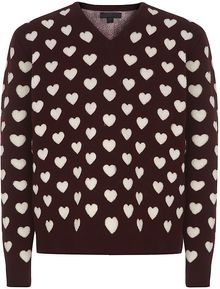 Burberry Prorsum Double Wool Heart Sweater - Lyst