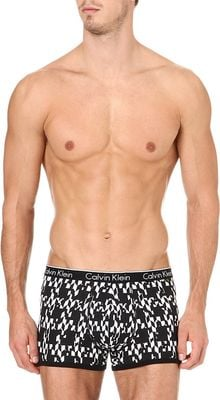 Calvin Klein Contrast Trim Trunks - Lyst