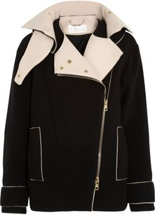 Chloé Double Faced Wool Blend Jacket - Lyst