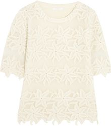 Chloé Guipure Lace and Cotton Top - Lyst