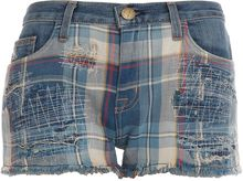 Current/Elliott Boyfriend Short W Plaid - Lyst