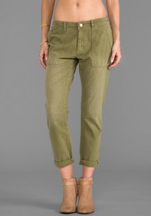 Current/Elliott The Army Buddy in Sage - Lyst