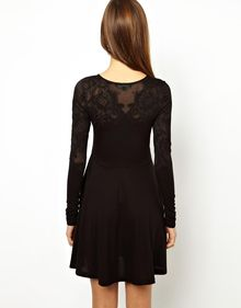 French Connection Bella Burn Out Skater Dress - Lyst