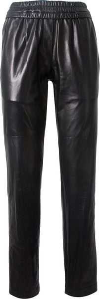 Isabel Marant Black Leather Pants - Lyst