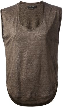 Isabel Marant Distressed Tank Top - Lyst