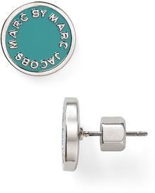 Marc By Marc Jacobs Enamel Logo Disc Stud Earrings - Lyst