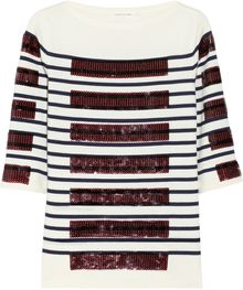 Marc Jacobs Sequin Embellished Cotton Blend Sweater - Lyst