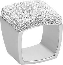 Michael Kors Pave Signet Ring Silver Color - Lyst