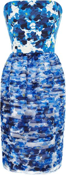Prabal Gurung Printed Tiered Organza Dress - Lyst