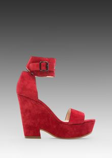 See By Chloé Wedge Ankle in Red - Lyst