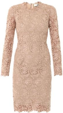 Stella McCartney Lise Lace Fitted Dress - Lyst