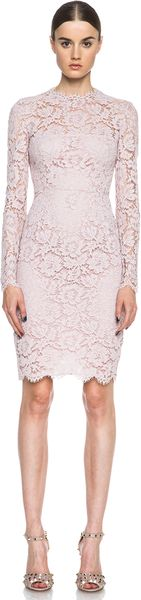 Valentino Lace Mini Dress - Lyst