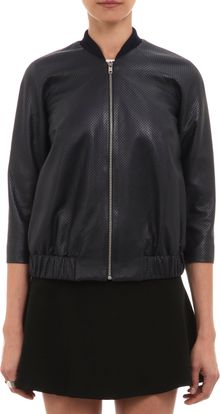 Wayne Perforated Leather Jacket - Lyst