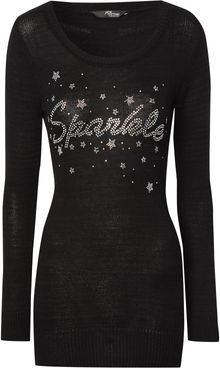 Jane Norman Diamante Sparkle Jumper - Lyst