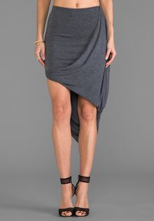Saint Grace Caden Twisted Skirt in Gray - Lyst