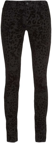 Topman Black Animal Flocked Spray On Skinny Jeans - Lyst