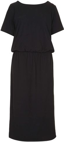 Topshop Black Wrap Dress By Boutique - Lyst