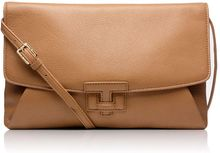 Tory Burch Leatherclosure Clutch - Lyst