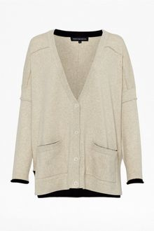French Connection Vincent Vhari Long Sleeve Cardigan - Lyst