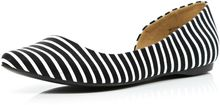 River Island Black and White Stripe Cut Out Ballet Pumps - Lyst