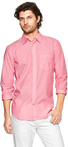 Gap Livedin Wash Solid Shirt - Lyst