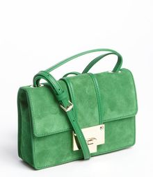 Jimmy Choo Moss Green Suede Rebel Convertible Bag - Lyst