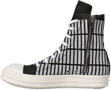 Rick Owens Drkshdw Puffy Printed Canvas Sneakers - Lyst