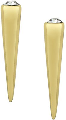 BCBGeneration Goldtone Spike Earrings with Crystal Stones - Lyst