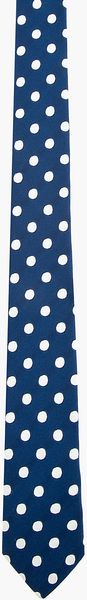 Burberry Prorsum Navy and Silver Polka Dot Silk Jacquard Tie - Lyst