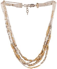Maje Ecriture Gold Necklace - Lyst