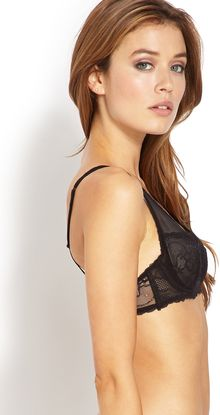 Forever 21 Mesh and Lace Bralette - Lyst