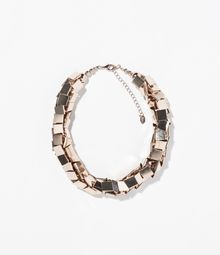Zara Metallic Necklace - Lyst