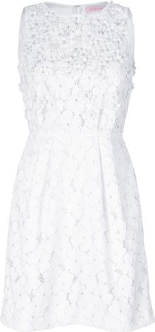 Matthew Williamson Eyelet Mini Dress - Lyst