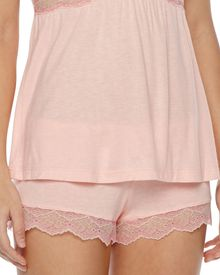 Eberjey Millie Lacetrim Lounge Shorts Melon Rose - Lyst