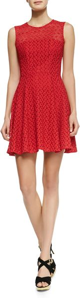 Nanette Lepore Fool For Love Flared Lace Dress - Lyst