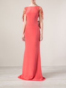 Notte By Marchesa Caped Cown - Lyst