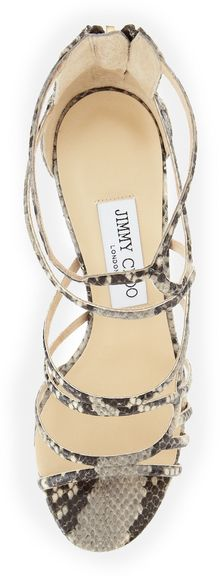Jimmy Choo Summit Snakeprint Strappy Sandal - Lyst