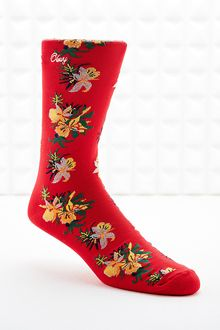 Obey Tourist Socks in Red - Lyst