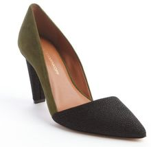 Rebecca Minkoff Fern Suede Pebbled Leather Pumps - Lyst