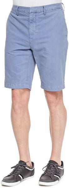 Vince Cotton Chino Shorts Herring - Lyst