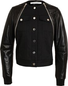 Givenchy Leather and Denim Bomber Jacket - Lyst