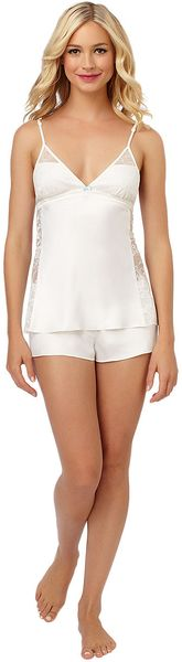Betsey Johnson Sultry Satin Flyaway Cami Shorts Set - Lyst