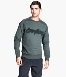 H&M Sweatshirt with Appliqué - Lyst