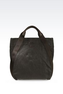 Giorgio Armani Tote Bag In Stretch Nappa Leather - Lyst